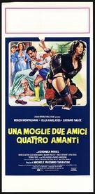 Una moglie, due amici, quattro amanti - Italian Movie Poster (xs thumbnail)