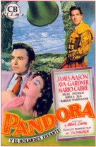 Pandora and the Flying Dutchman - Spanish Movie Poster (xs thumbnail)