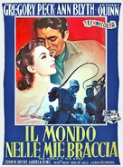 The World in His Arms - Italian Movie Poster (xs thumbnail)