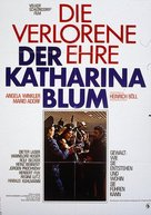 Die verlorene Ehre der Katharina Blum oder: Wie Gewalt entstehen und wohin sie führen kann - German Movie Poster (xs thumbnail)