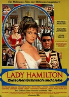 Le calde notti di Lady Hamilton - German Movie Poster (xs thumbnail)