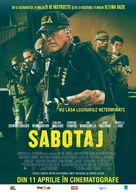 Sabotage - Romanian Movie Poster (xs thumbnail)