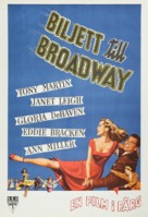 Two Tickets to Broadway - Swedish Movie Poster (xs thumbnail)