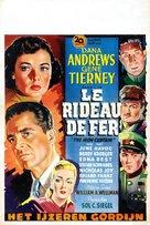 The Iron Curtain - Belgian Movie Poster (xs thumbnail)