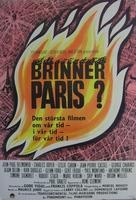 Paris brûle-t-il? - Swedish Movie Poster (xs thumbnail)