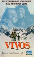 Alive - Brazilian VHS movie cover (xs thumbnail)