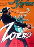 Le tre spade di Zorro - French Movie Poster (xs thumbnail)