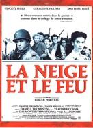 La neige et le feu - French Movie Poster (xs thumbnail)