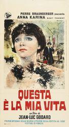 Vivre sa vie: Film en douze tableaux - Italian Movie Poster (xs thumbnail)
