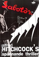 Saboteur - Swedish Movie Poster (xs thumbnail)