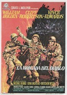 The Devil's Brigade - Spanish Movie Poster (xs thumbnail)