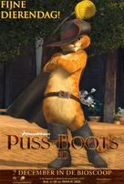 Puss in Boots - Dutch Movie Poster (xs thumbnail)