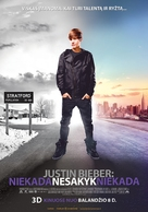 Justin Bieber: Never Say Never - Lithuanian Movie Poster (xs thumbnail)
