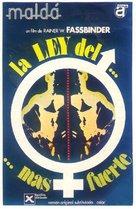 Faustrecht der Freiheit - Spanish Movie Poster (xs thumbnail)
