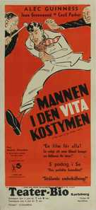 The Man in the White Suit - Swedish Movie Poster (xs thumbnail)
