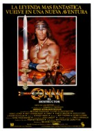Conan The Destroyer - Spanish Movie Poster (xs thumbnail)
