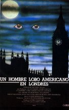 An American Werewolf in London - Spanish VHS movie cover (xs thumbnail)