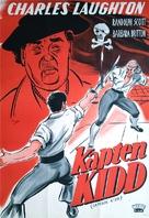 Captain Kidd - Swedish Movie Poster (xs thumbnail)