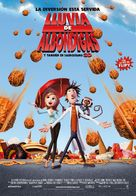 Cloudy with a Chance of Meatballs - Spanish Movie Poster (xs thumbnail)