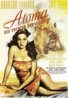 Aloma of the South Seas - German Movie Poster (xs thumbnail)