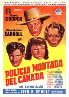 North West Mounted Police - Spanish Movie Poster (xs thumbnail)