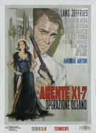 Agente X 1-7 operazione Oceano - Italian Movie Poster (xs thumbnail)