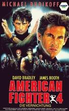 American Ninja 4: The Annihilation - German VHS movie cover (xs thumbnail)