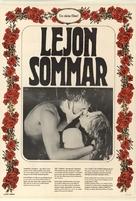 Lejonsommar - Swedish Movie Poster (xs thumbnail)