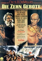 The Ten Commandments - German Movie Poster (xs thumbnail)
