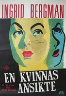 Kvinnas ansikte, En - Swedish Movie Poster (xs thumbnail)