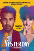 Yesterday - British Movie Poster (xs thumbnail)