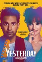 Yesterday - British Movie Poster (xs thumbnail)