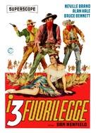 The Three Outlaws - Italian Movie Poster (xs thumbnail)