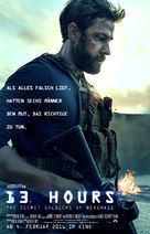 13 Hours: The Secret Soldiers of Benghazi - German Movie Poster (xs thumbnail)