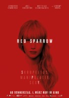 Red Sparrow - German Movie Poster (xs thumbnail)