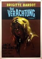 Le mépris - German Movie Poster (xs thumbnail)