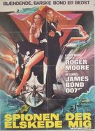 The Spy Who Loved Me - Danish Movie Poster (xs thumbnail)