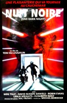 One Dark Night - French VHS movie cover (xs thumbnail)