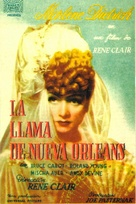 The Flame of New Orleans - Spanish Movie Poster (xs thumbnail)