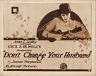 Don't Change Your Husband - Movie Poster (xs thumbnail)