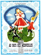 Alice in Wonderland - French Movie Poster (xs thumbnail)