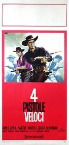 Four Fast Guns - Italian Movie Poster (xs thumbnail)