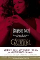 Escuchando a Gabriel - Spanish Movie Poster (xs thumbnail)