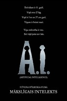 Artificial Intelligence: AI - Latvian Movie Poster (xs thumbnail)