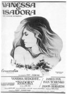 Isadora - Spanish Movie Poster (xs thumbnail)