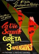 Four Dimensions of Greta - French Movie Poster (xs thumbnail)