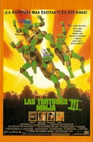 Teenage Mutant Ninja Turtles III - Spanish Movie Poster (xs thumbnail)