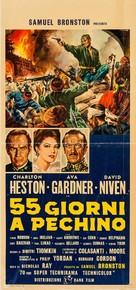 55 Days at Peking - Italian Movie Poster (xs thumbnail)