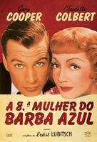 Bluebeard's Eighth Wife - Portuguese DVD cover (xs thumbnail)