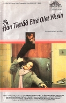 He Knows You're Alone - Finnish VHS movie cover (xs thumbnail)